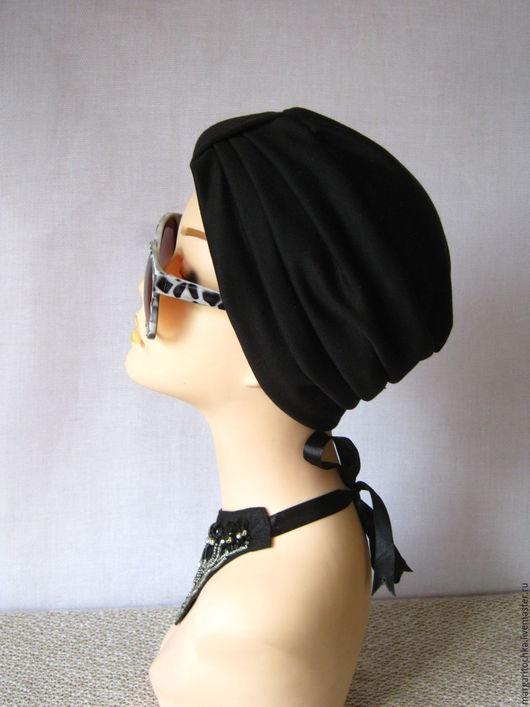 Банданы ручной работы. Ярмарка Мастеров - ручная работа. Купить Чалма черная тюрбан. Handmade. Чалма черная, модная шляпка