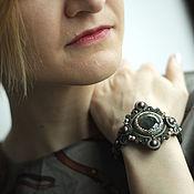 Украшения handmade. Livemaster - original item Soutache bracelet labradorite khaki Swarovski pearls. Handmade.