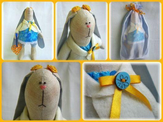 Игрушки животные, ручной работы. Ярмарка Мастеров - ручная работа. Купить Зайка Мила. Handmade. Голубой, подарок, текстильная кукла