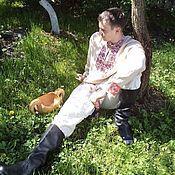 Русский стиль handmade. Livemaster - original item Men`s shirt with embroidery. Handmade.