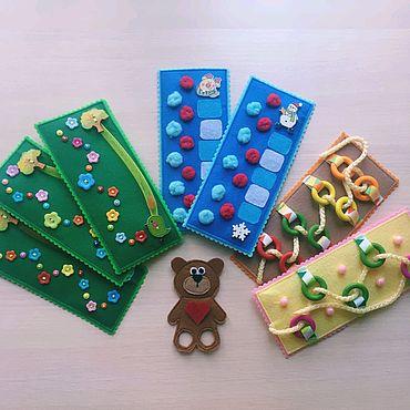 Куклы и игрушки ручной работы. Ярмарка Мастеров - ручная работа Сенсорные дорожки, дорожка для пальчиков из фетра. Handmade.