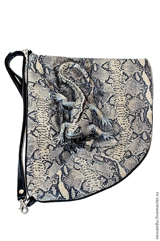 """Женские сумки ручной работы. Ярмарка Мастеров - ручная работа. Купить 3D Сумка """"Игуана"""" из натуральной фактурной кожи. Handmade."""