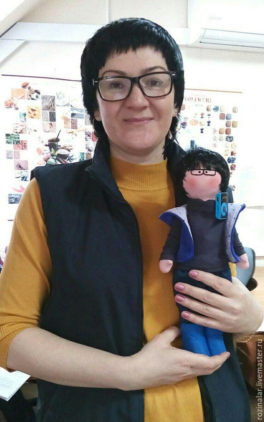Портретные куклы ручной работы. Ярмарка Мастеров - ручная работа. Купить портретная кукла. Handmade. Портретная кукла, трикотаж