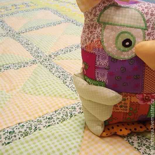 """Текстиль, ковры ручной работы. Ярмарка Мастеров - ручная работа. Купить Одеяло-покрывало пэчворк """"Лимон&Лайм"""". Handmade. Желтый, шитье"""
