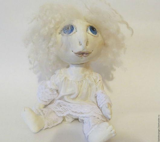 Коллекционные куклы ручной работы. Ярмарка Мастеров - ручная работа. Купить Ангел. Handmade. Белый, грунтованный текстиль, счастье в дом