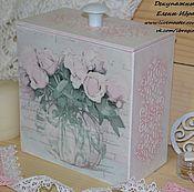 """Для дома и интерьера ручной работы. Ярмарка Мастеров - ручная работа Короб для хранения """"Нежность роз"""". Handmade."""