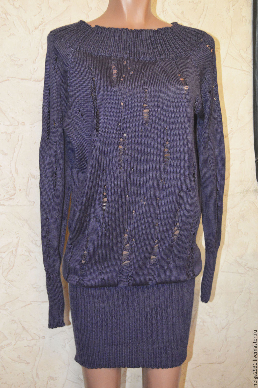 Вязанные платья туники с доставкой