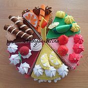 Куклы и игрушки ручной работы. Ярмарка Мастеров - ручная работа Торт из фетра. Handmade.