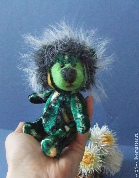 Мишки Тедди ручной работы. Ярмарка Мастеров - ручная работа. Купить Одуванчик. Handmade. Зеленый, плюш винтажный