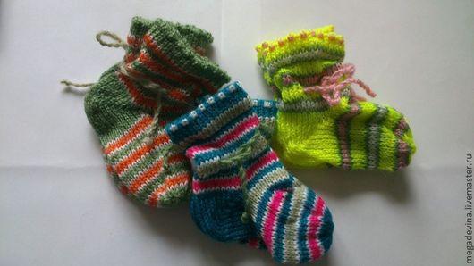 Одежда унисекс ручной работы. Ярмарка Мастеров - ручная работа. Купить Носочки детские. Handmade. Детские носочки, машинная вязка