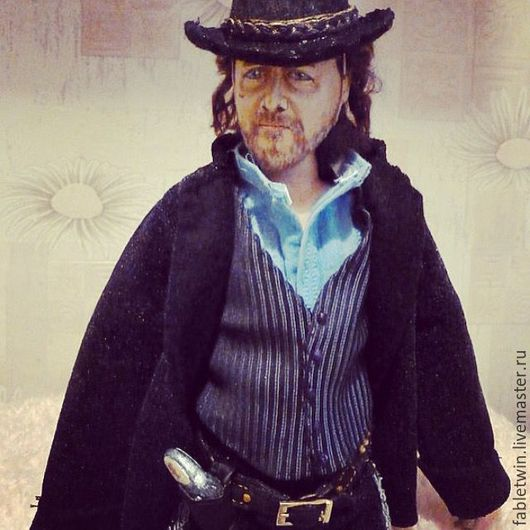 Collectible Dolls handmade. Livemaster - handmade. Buy Doll portrait. Russell Crowe as Ben Wade..Portrait doll