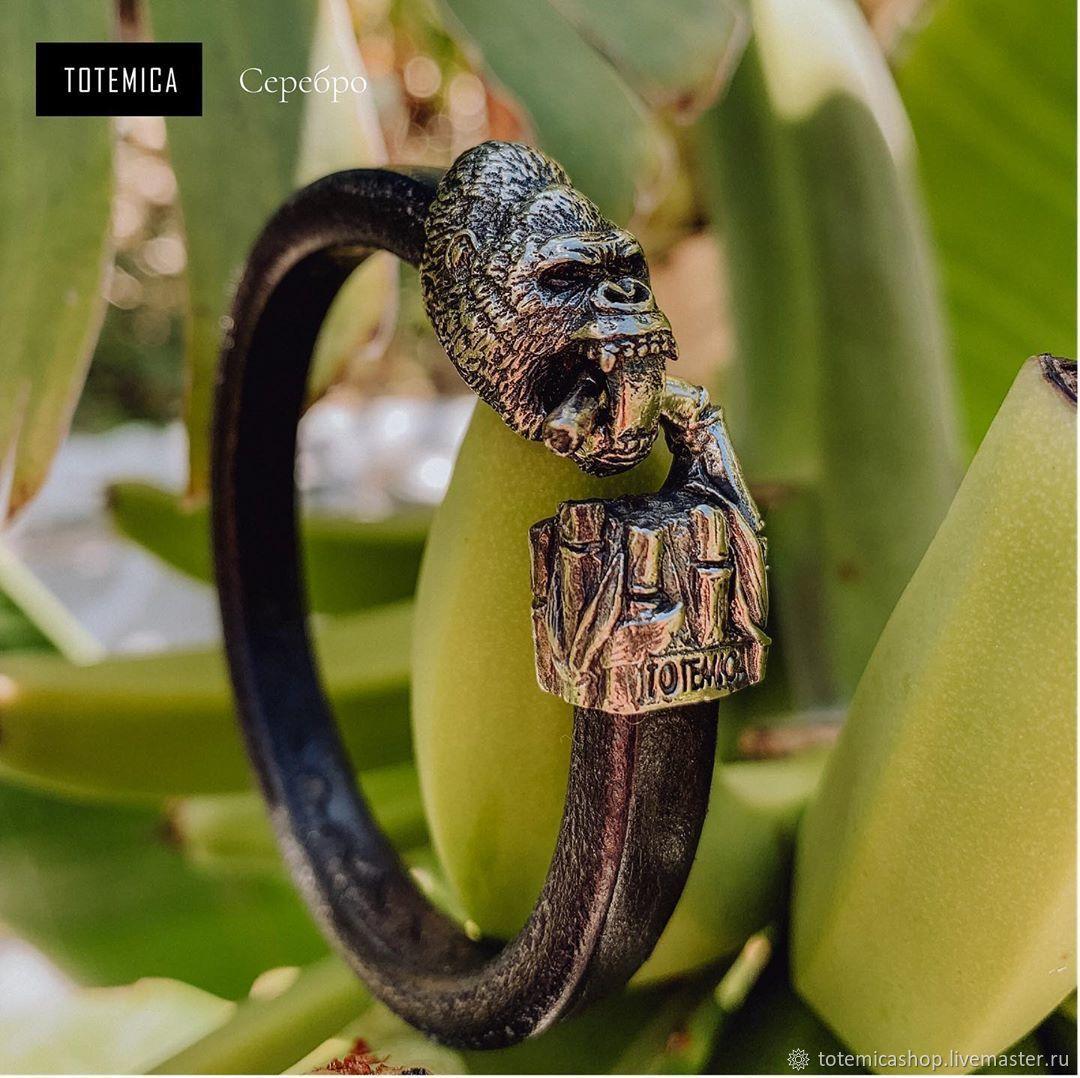Silver Gorilla Bracelet /  Skin, Regaliz bracelet, Moscow,  Фото №1