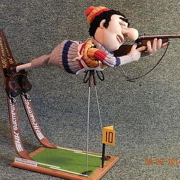 Куклы и игрушки ручной работы. Ярмарка Мастеров - ручная работа Биатлонист. Handmade.