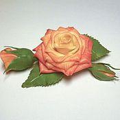 """Украшения ручной работы. Ярмарка Мастеров - ручная работа Брошь с розами """"Мини-букет"""" (брошь с цветами, яркая брошь). Handmade."""