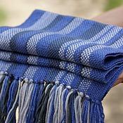Работы для детей, ручной работы. Ярмарка Мастеров - ручная работа Детский домотканый шарф blue. Handmade.