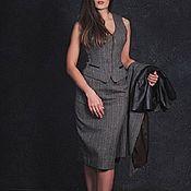 Одежда ручной работы. Ярмарка Мастеров - ручная работа Костюм женский деловой, костюм с юбкой из шерсти. Handmade.