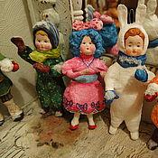 """Куклы и игрушки ручной работы. Ярмарка Мастеров - ручная работа Серия  """"Винтажные ватные игрушки"""" 24 шт. (Продана). Handmade."""