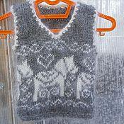 Одежда ручной работы. Ярмарка Мастеров - ручная работа Жилет детский пуховый для самых маленьких. Handmade.