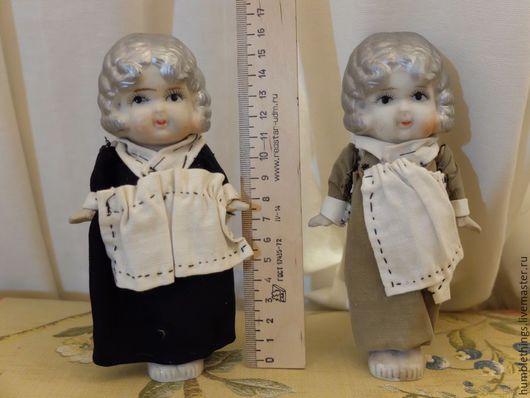 Коллекционные куклы ручной работы. Ярмарка Мастеров - ручная работа. Купить Антикварные куколки flapper Япония. Handmade. Бежевый, фарфор