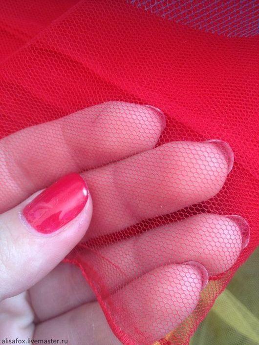 Шитье ручной работы. Ярмарка Мастеров - ручная работа. Купить Фатин мягкий матовый для американок красный. Handmade. Ярко-красный