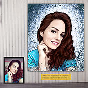 Картины и панно handmade. Livemaster - original item A portrait from a photo in 2 days. Gift a girl on birthday. Handmade.