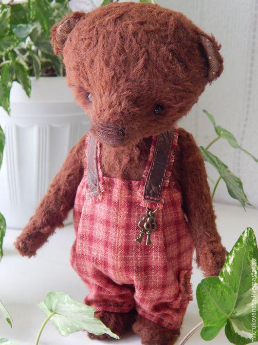 Мишки Тедди ручной работы. Ярмарка Мастеров - ручная работа. Купить Серёжка..... Handmade. Коричневый, интересный подарок, глаза стеклянные