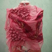 Аксессуары handmade. Livemaster - original item Stole made of silk Berry. Handmade.