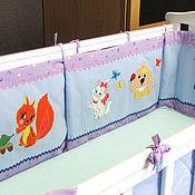 Для дома и интерьера ручной работы. Ярмарка Мастеров - ручная работа Бортики для детской кроватки. Handmade.