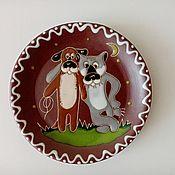 handmade. Livemaster - original item Plates decorative: Friends. Handmade.