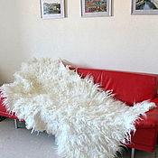 """Для дома и интерьера ручной работы. Ярмарка Мастеров - ручная работа Плед-ковер """"Английский белый"""". Handmade."""