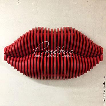 Для дома и интерьера ручной работы. Ярмарка Мастеров - ручная работа Вешалка губы в красном цвете. Handmade.
