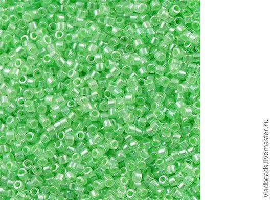 Для украшений ручной работы. Ярмарка Мастеров - ручная работа. Купить Бисер delica 237 Ceylon Mint Green. Handmade.