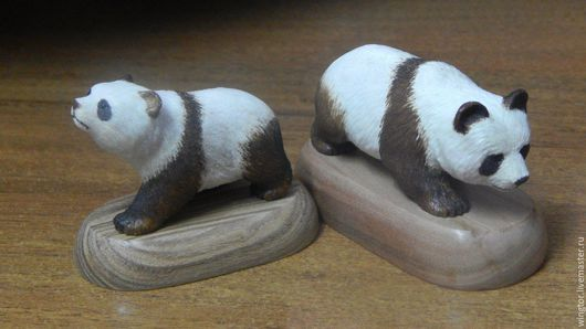 Миниатюрные модели ручной работы. Ярмарка Мастеров - ручная работа. Купить панда фигурка. Handmade. Белый, панда, медведь