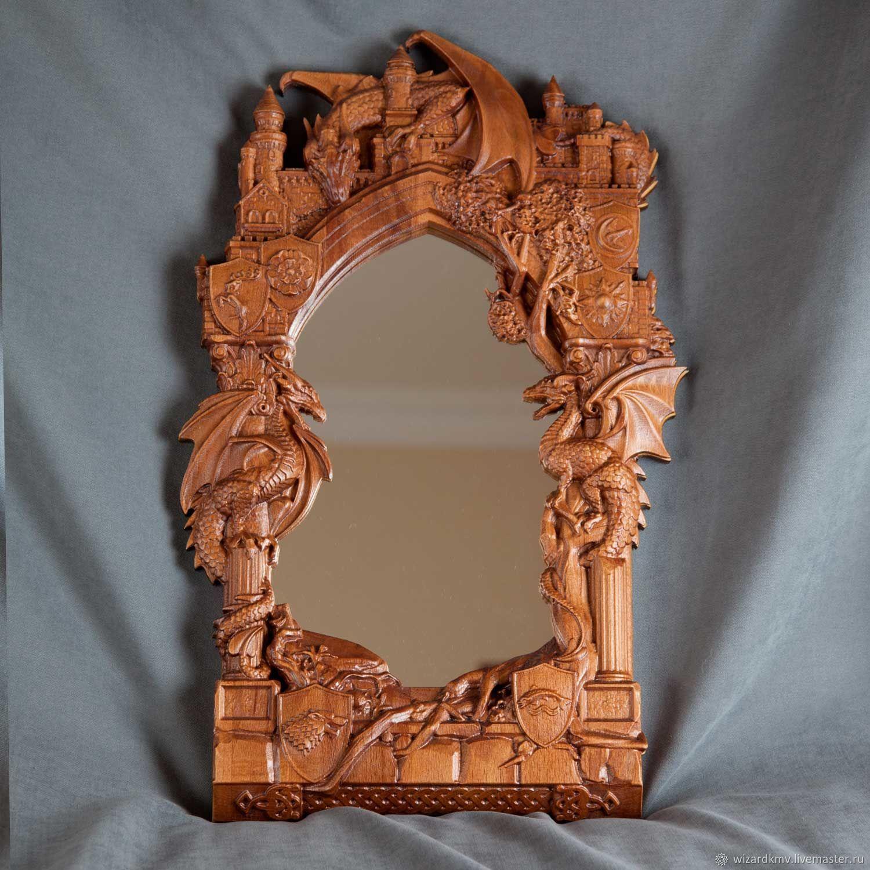 Зеркала ручной работы. Ярмарка Мастеров - ручная работа. Купить Зеркало Драконы. Handmade. Зеркало, рама под фотографию 20х30см