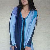 Одежда ручной работы. Ярмарка Мастеров - ручная работа Кофта в вертикальную полоску. Handmade.