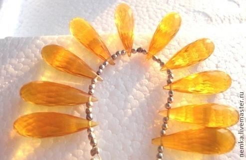 Для украшений ручной работы. Ярмарка Мастеров - ручная работа. Купить Цитрин -бриолет(1 штука). Handmade. Оранжевый, цитрин, цитрины