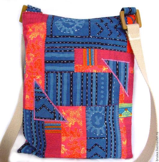 Женские сумки ручной работы. Ярмарка Мастеров - ручная работа. Купить Сумка Хиппи. Handmade. Тёмно-синий, бордовый