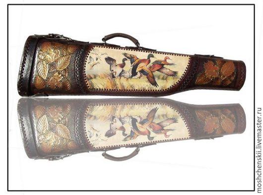 Персональные подарки ручной работы. Ярмарка Мастеров - ручная работа. Купить чехол для охотничьего ружья. Handmade. Коричневый, армированная нить