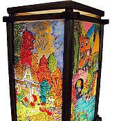 Для дома и интерьера handmade. Livemaster - original item Stained glass lamp Seasons. Handmade.