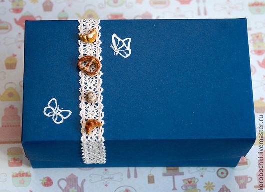 """Подарочная упаковка ручной работы. Ярмарка Мастеров - ручная работа. Купить Коробка """"Конфетки-бараночки"""" 18х10х9 см. Handmade."""