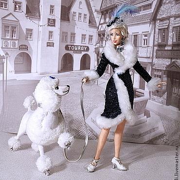 Куклы и игрушки ручной работы. Ярмарка Мастеров - ручная работа Дама с королевским пуделем. Handmade.