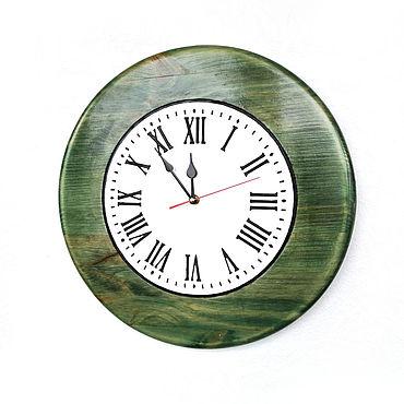 Для дома и интерьера ручной работы. Ярмарка Мастеров - ручная работа Настенные часы зеленые Малахит 40 см бесшумные. Handmade.