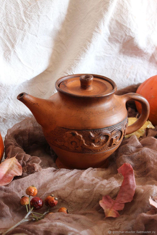 """Глиняный чайник для заварки  """"Осень"""", Чайники, Ставрополь,  Фото №1"""