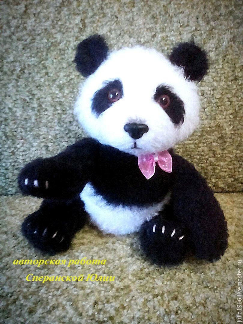 схема вывязывания панды