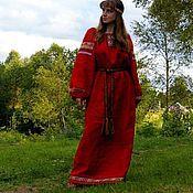 Русский стиль ручной работы. Ярмарка Мастеров - ручная работа Красная рубаха. Handmade.