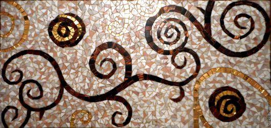 Мебель ручной работы. Ярмарка Мастеров - ручная работа. Купить Панно из мозаики в стиле Г.Климта. Handmade. Панно для интерьера