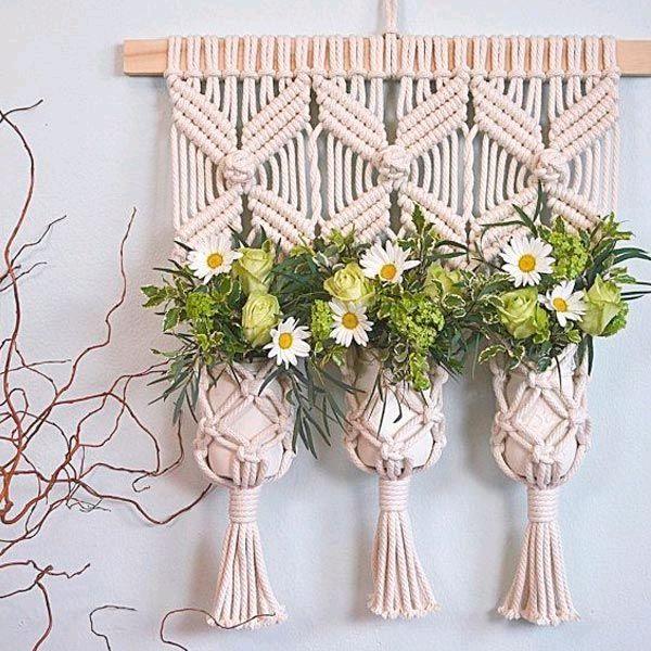 Кашпо подвесное для цветов, Кашпо, Сатка,  Фото №1