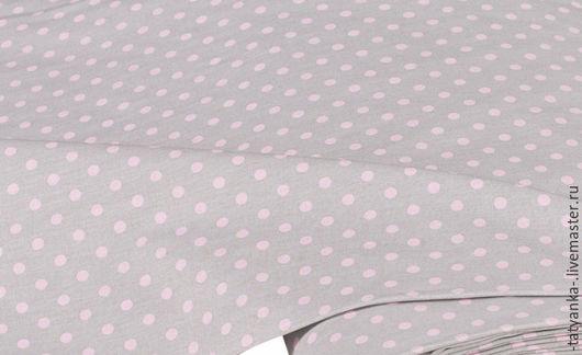 Ткань немецкий хлопок `Горох` 5 мм