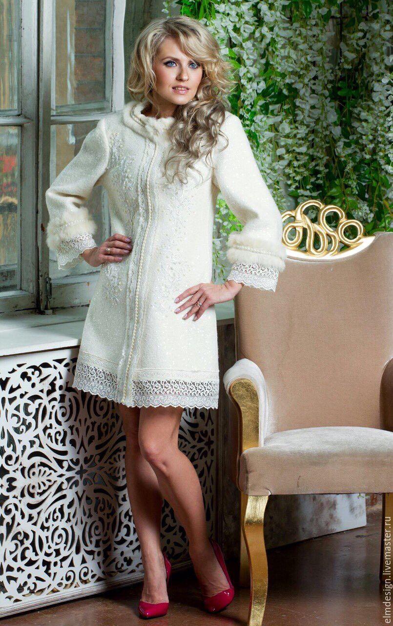 Пальто,пальто белое,пальто сказочное,пальто дизайнерское, Пальто, Москва,  Фото №1