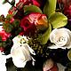 Цветы ручной работы. Непринужденный цветочный микс. Анастасия Сатин. Ярмарка Мастеров. Розы